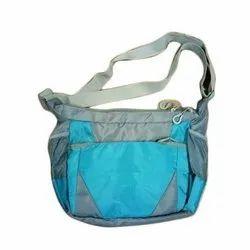 Blue And Grey School Side Bag
