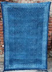 Indigo Blue Hand Block Print Rug