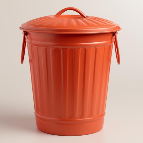 Red Stainless Steel Indoor Outdoor Metal Trash Can Garbage Bin Size 15 Inch Rs 500 Piece Id 22250470573