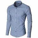 Linen Casual Wear Mens Check Shirt