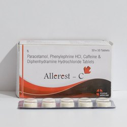 Paracetamol 325mg Phenylpherine 5mg Caffeine 30mg Diphenhydramine Tablet