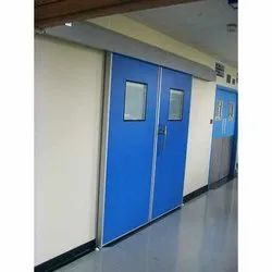 Galvanized Iron Clean Room Sliding Door