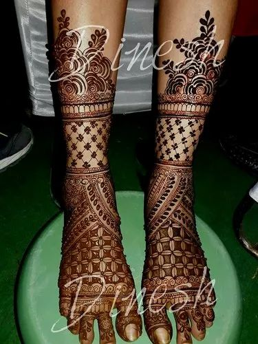 Bridal Foot Mehandi Design Services, Dinesh Mehandi Art