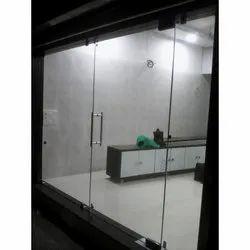 Frameless Toughened Glass Door, Thickness: 10-12mm