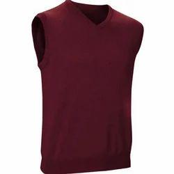 Plain Sleeveless School Sweater