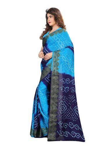 39aed4b55b Blue Casual Surati Saree, Rs 999 /piece, Kumkum Fashion Creation ...