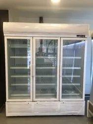 Three Glass Door Display Refrigerator