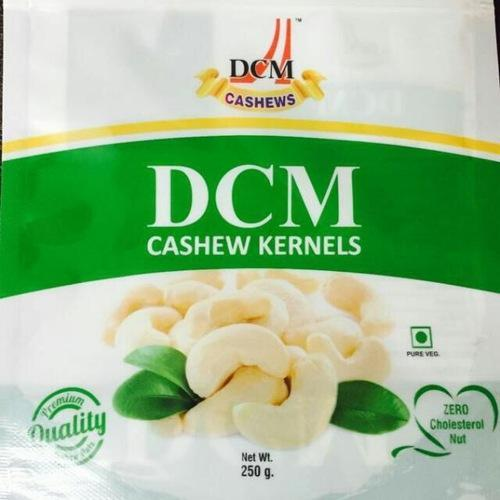 Natural Wholes Cashew Kernels (W-240), Grade: W240, Packed