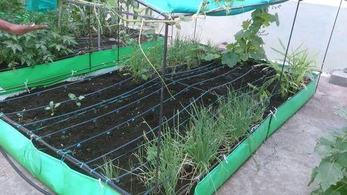 Green Orange Rectangular Roof Farming Gardening Grow Bag