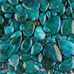 Natural Chrysocolla Cabochon Stone In Assortment For Jewelry Making