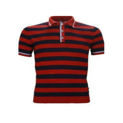 Mens Cotton Half Sleeve Polo Neck T Shirt