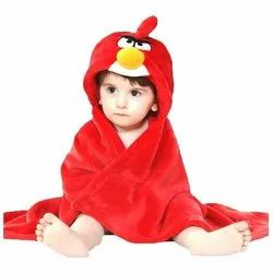 Little Cubs Angry Birds Red Baby Hooded Bath Towel