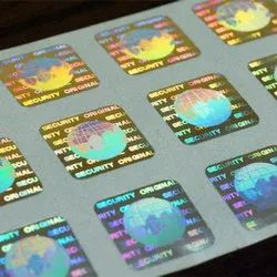 Metallized Polyester 3D Sticker Hologram Stickers, Packaging Type: Packet