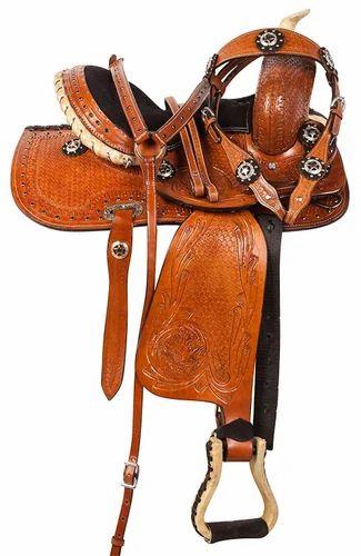 Premium Leather Western Horse Saddle