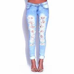 Low Waist Rugged Ladies Jeans
