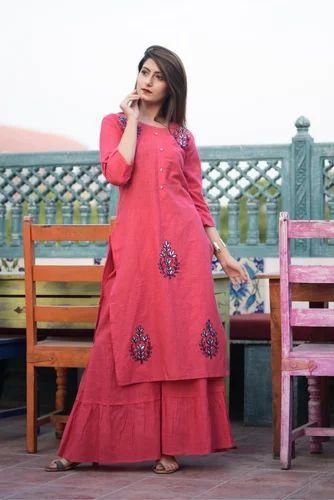 7ce70e6925 Cotton Floor Length Gown Style Kurti