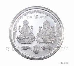 Pure Silver Lakshmi & Ganesh Coin