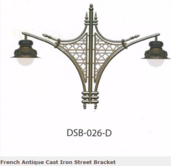 DSB-026-D French Antique Cast Iron Street Bracket