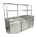 Commercial Under Counter Freezer With Over Head Shelves
