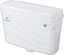 Idoos White Wave Side Handle Flushing Cistern, For Toilet