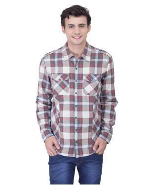 8dd1f0f1013 L.M.S Oxolloxo Men Multi Cotton Shirt