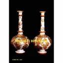 White Makrana Marble Hand Craft Vase