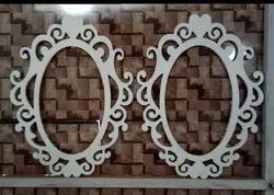 Elegent White WPC Mirror Frame