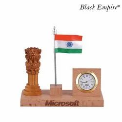 Indian Flag Wooden Pen Stand