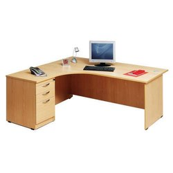 Wooden 3 Drawer L Shape Office Table