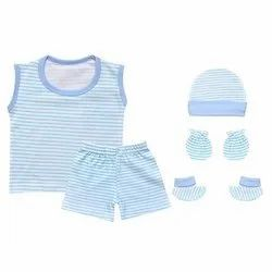 a69b5cc6 Blue LNLLKDSCMB105 Kids Casual Mitten Bootie and Shorts, Age Group: 0 - 6  Months