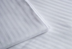 100% Cotton Satin Stripe Fabric for Hotel Bed Linens