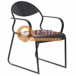 Gajjar Furniture Black Perforated Chair for Office