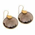 Handmade Gold Fillgree Designable Bezel Gold Micron Plated Earring Stud