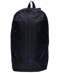 Black And Purple Plain Backpack