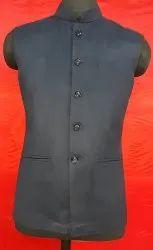 Sleeveless Leather Mens Designer Plain Nehru Jacket, Size: 36 To 44