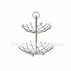 Two Tier Metal Wire Storage Basket