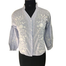 Embroidery Strive Cotton Top