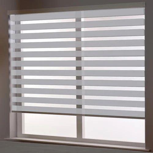 Automatic Window Blinds >> Semi Automatic Window Zebra Blinds Rs 80 Square Feet Ripple Blind