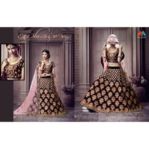 e3625bb022 Bridal Lehenga Choli - Designer Heavy Embroidery Bridal Lehengha ...