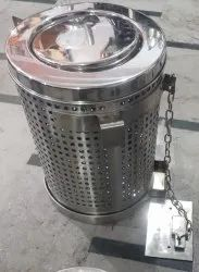 Indian Railway Stainless Steel Dustbin, Size: 10 X14