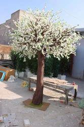 White Cherry Blossom Artificial Tree