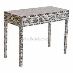 Plush Noire Bone Inlay Console Table