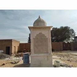 White,Brown Stone Jali Temple, For Outdoor