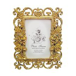 Golden Look Designer Photo Frame Decorative Gift Item
