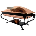 Copper Chafing Dish Round Chafer Buffet Catering Warmer Set