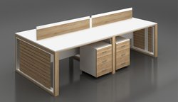 Ply Wooden Aluminium Frame Offices Workstation.