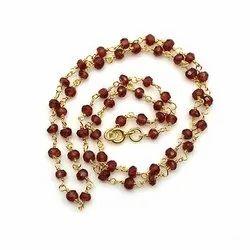 Sparkling Silvex Garnet Beaded Chain, Box