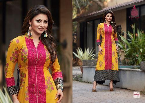 41047ea61c Stitched Formal Wear Kajal Style Cotton Kurti Mumtaz Vol 1, Rs 650 ...