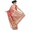 Fancy Red Wedding Saree