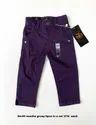 Cotton Purple Kids Trousers